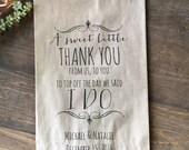 Wedding Favor Bags, Candy Buffet Bags, Candy Bar Bags, Favor Bags, Personalized Wedding Favor Bags, Treat Bags, Custom Favor Bags, Pkg of 25