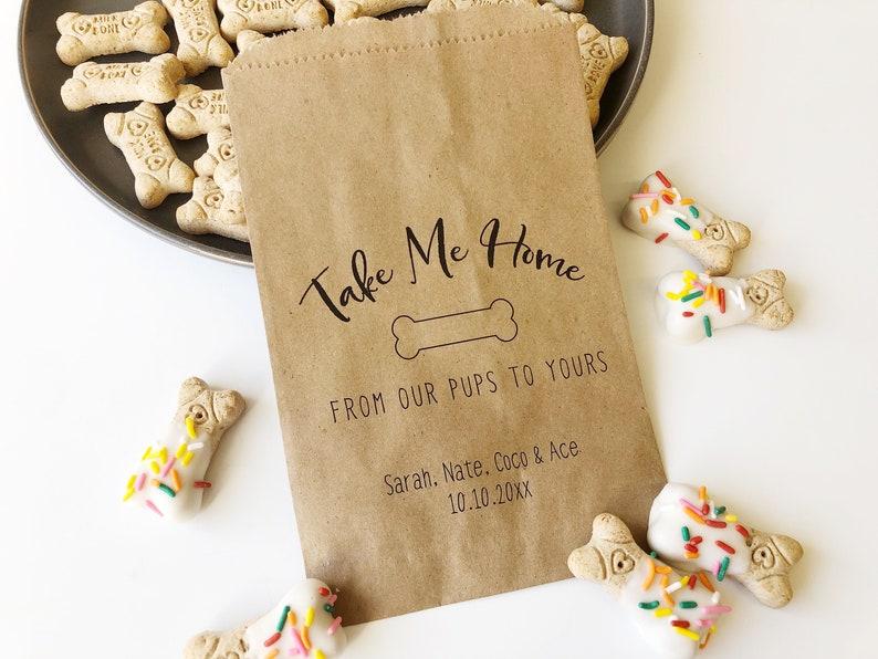 Doggie Bag Wedding Treat Bags Rustic Popcorn Candy- 25 pack Kraft Brown Bags Wedding Favor Bags Goodie Bags