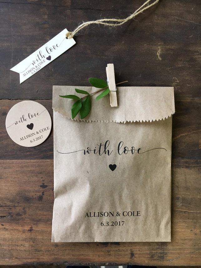 Wedding Favors Custom Printed Favor Bags Recycled Wedding Etsy