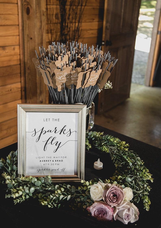 Wedding Sparkler Tag-Set of 24-Sparkler Sleeves Custom image 5