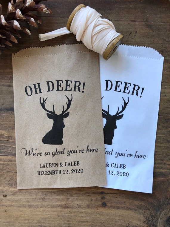 Winter Wedding Favor Bags Small Christmas Gift Idea Baby Etsy