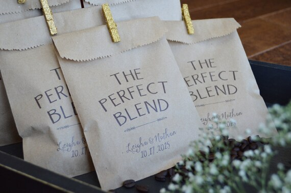 Coffee Favor Bags Wedding Favors Favors Bag For Coffee Bars Etsy