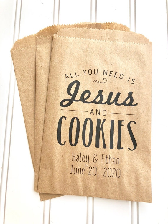 Christian Wedding Favors Candy Buffet Bags Cookie Bag Favor Etsy
