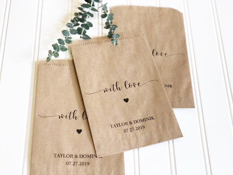 Wedding Favors  Custom Printed Favor Bags  Recycled Wedding image 0