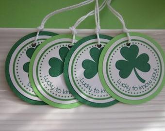 Shamrock / St. Patrick's Day gift / favor tags / set of 8