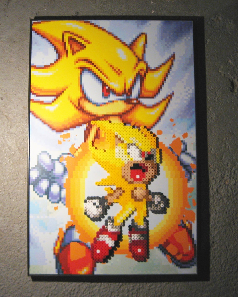 Super Sonic Sonic The Hedgehog Etsy