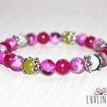 Expressing Love, Sugilite, Peridot & Amazonite Gemstone Mala Bracelet, Yoga Jewelry, Healing Reiki Energy