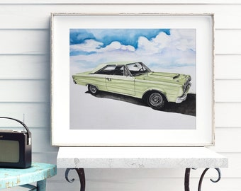 Custom Car Portrait, Husband gift, personalized, gift for men, wall art, car, painting, watercolor