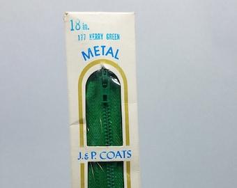"Vintage J /& P Coats Metal Separating Medium Weight Zipper 12/"" 14/"" 16/"" 18/"" 20/"" 22"