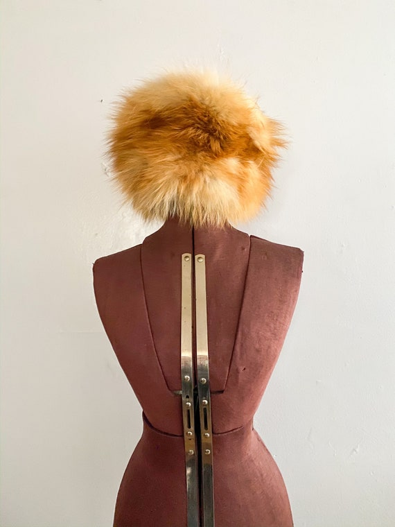1960s Vintage Fox Fur Hat