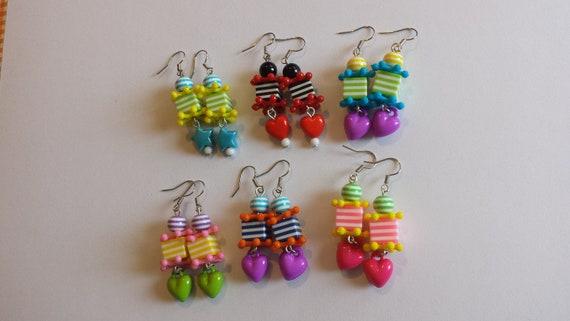 acheter en ligne 312b6 32f2c Cube coloré boucles d'oreilles, bijoux colorés, bijoux de déclaration