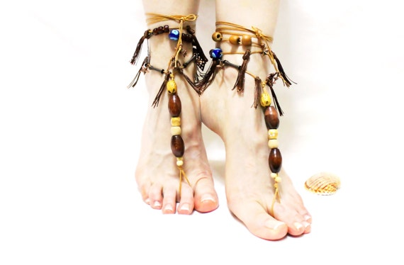 jewelry barefoot foot flower hippie Barefoot sandals sandles sandals beach toe tassel embroidered thong sandals sandals anklet 48q8UAIxSw