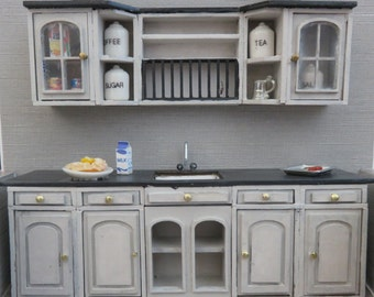 Dollshouse miniature halfscale (1/24) kitchen.