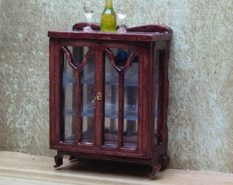 Dollshouse miniature Art Nouveau Treasury cabinet quarter scale (1/48)