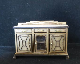 Dollshouse miniature Art Deco dresser half scale (1/24)