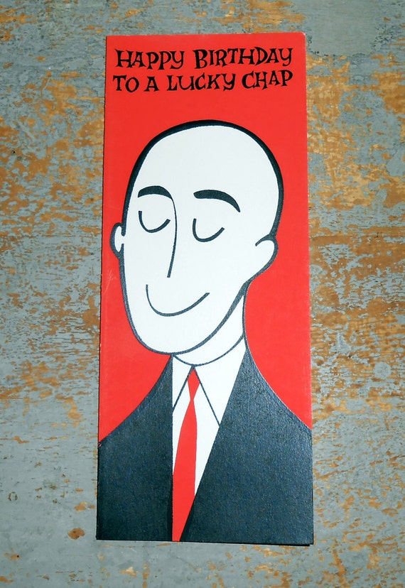 Vintage Cards Birthday Card Greeting Card Bald Guy Funny Etsy