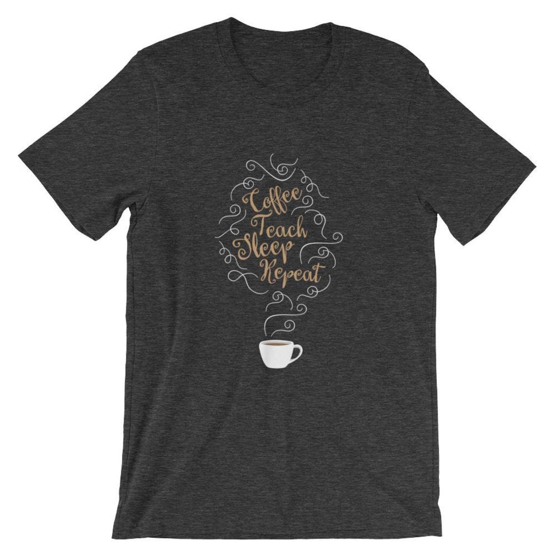 Café enseñar dormir repetir camiseta cafetería maestro de  222624232fdab