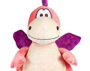 Personalised Pink Dragon, Cubbies, Soft Toy, Teddy Bear, New Baby Gift, Dragon Toy