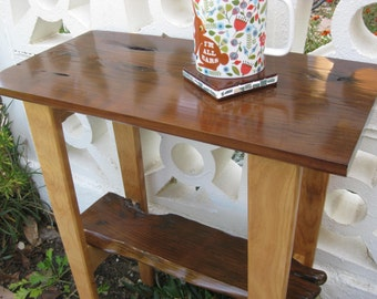 Redwood and Birch end table