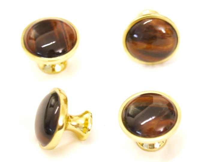 Red Tiger's Eye Cabinet Knob