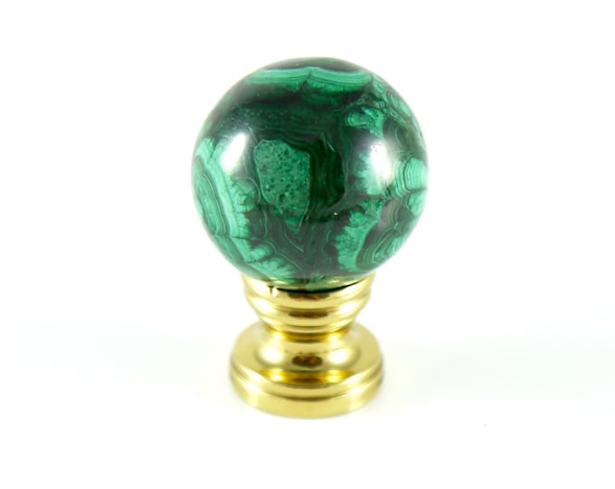 Malachite Lamp Finial