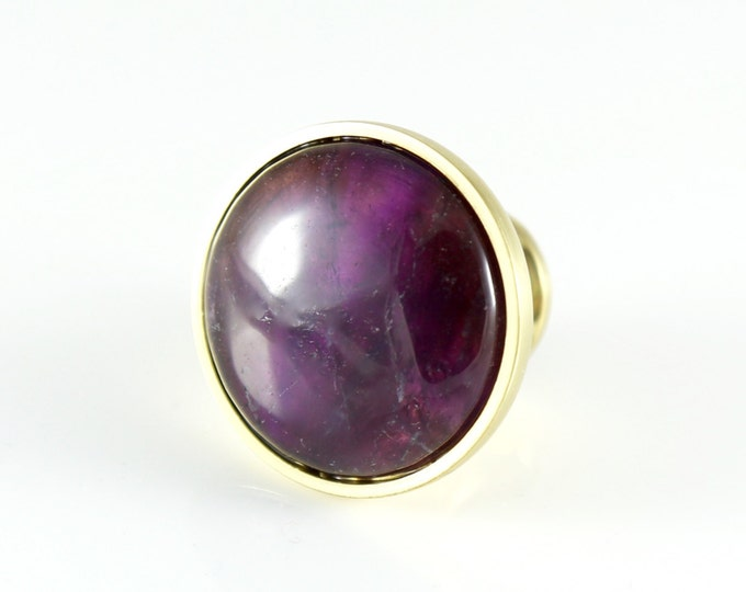Amethyst Gemstone Crystal Knob - Purple Round Stone Knob