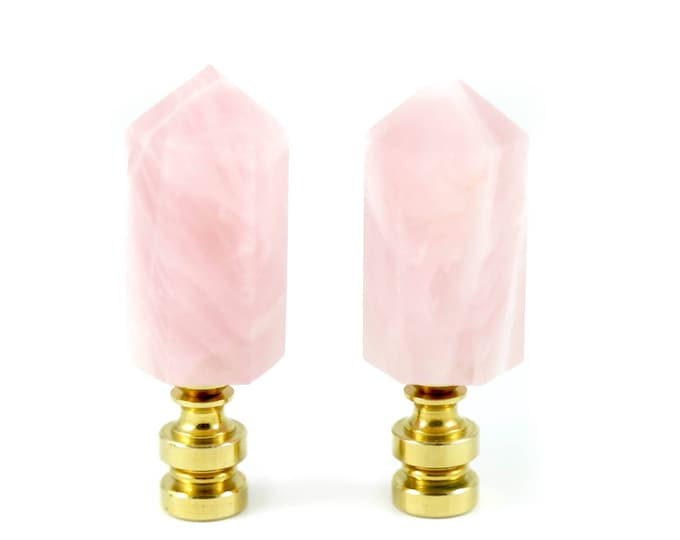 Rose Quartz Lamp Finials