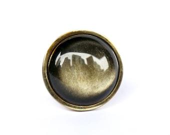 Obsidian Dresser Knob--Obsidian Drawer Knob--NYC Home Decor