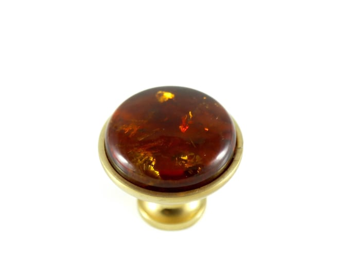 Amber Knob - Natural Baltic Amber Home Decor
