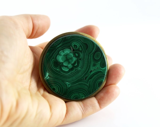 Large Malachite Knob