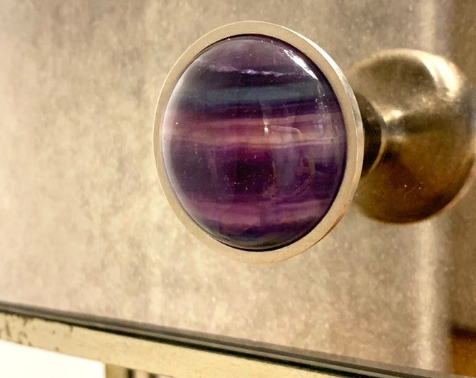 Rainbow Fluorite Tie Dye Knob
