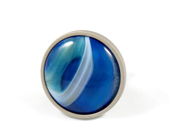 Freedom Blue Agate Knob