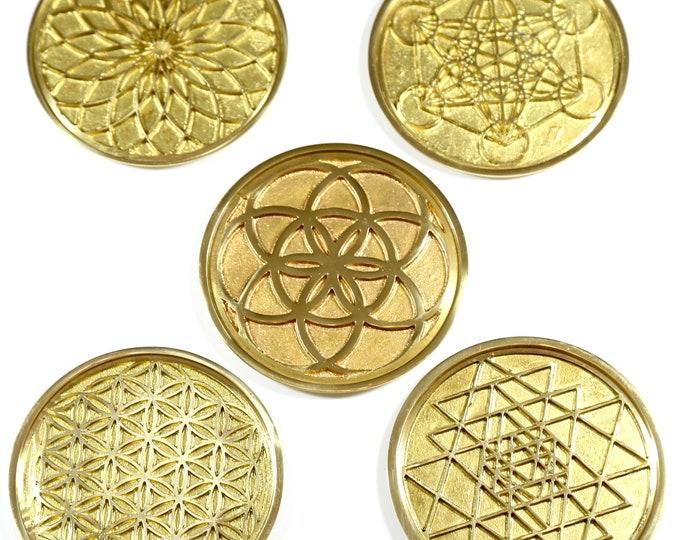 Sacred Geometry Coaster -  Set of 5