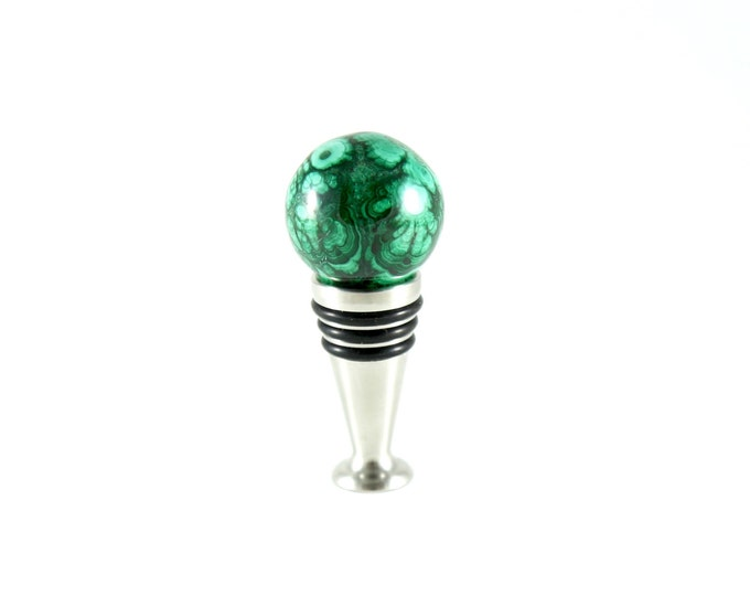 Malachite Wine Stopper