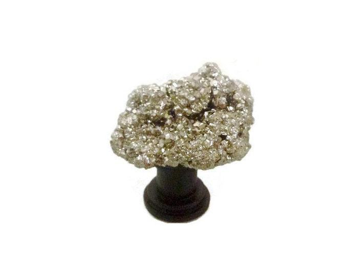Gold Geode Knob--Pyrite Cabinet Knob-Gold Geode Pull---Gold Cabinet Knob--Gold Knob--Gold Drawer Knob