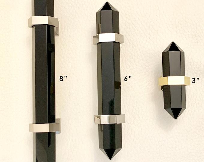 Dragon Glass Knob - Black Obsidian