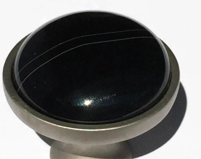 Black Agate Knob