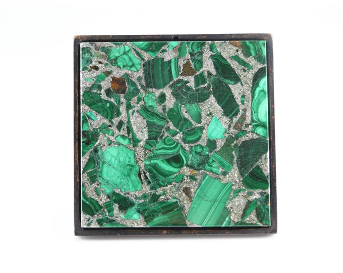 Million Dollar Malachite Large Square Knob