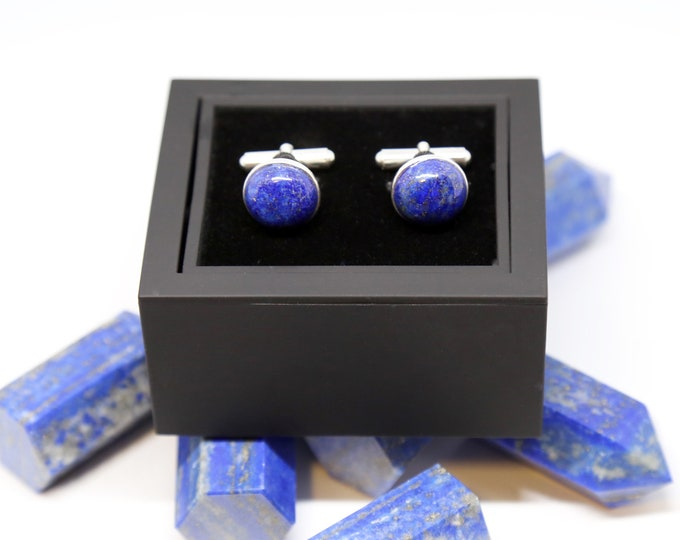 Wisdom and Truth Cufflinks--Lapis