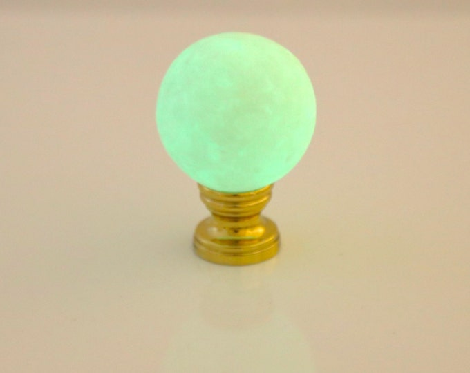 Moon Lamp--Glow in the Dark--Moon Globe-- Lamp Finial--Solar System--Night Light