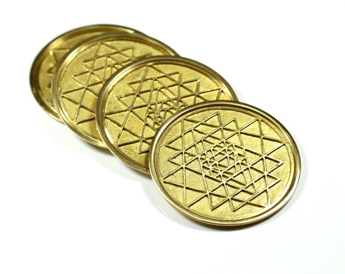 Sri Yantra Coaster Set
