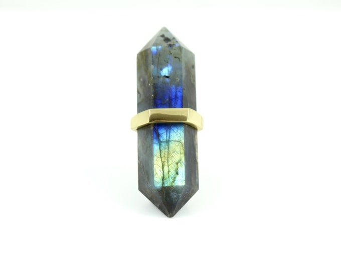 Blue Drawer Pull--Labradorite