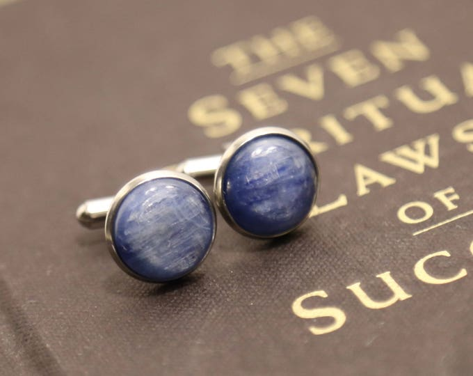 High Vibes Kyanite Cufflinks
