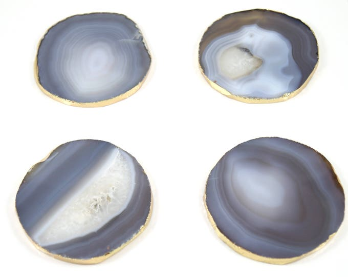 Gray Agate Coasters