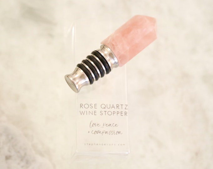 Rose Quartz Wine Stopper