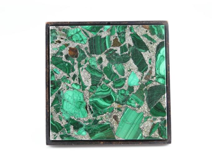 Million Dollar Malachite Large Square Knob