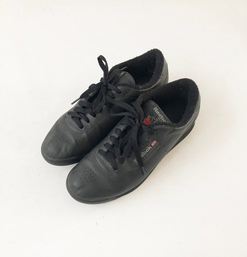 Vintage 90s Reebok Classic Sneakers Tennis Shoes Black  33d90a1a0