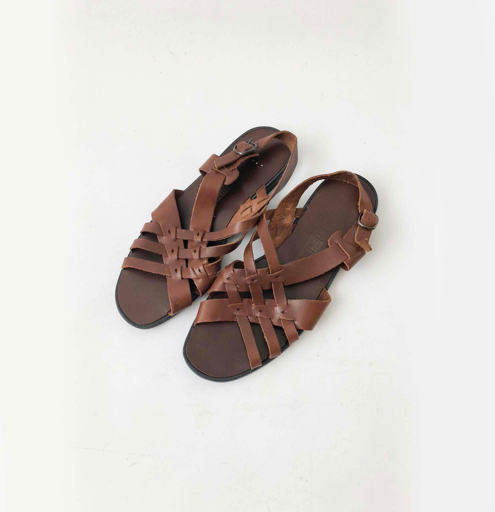 sandales à lanières en cuir tressé vintage de chocolat chocolat chocolat hippie hippie -   apparteHommes ts - bohémien jésus sandales chaussures - taille  b a1b4bf