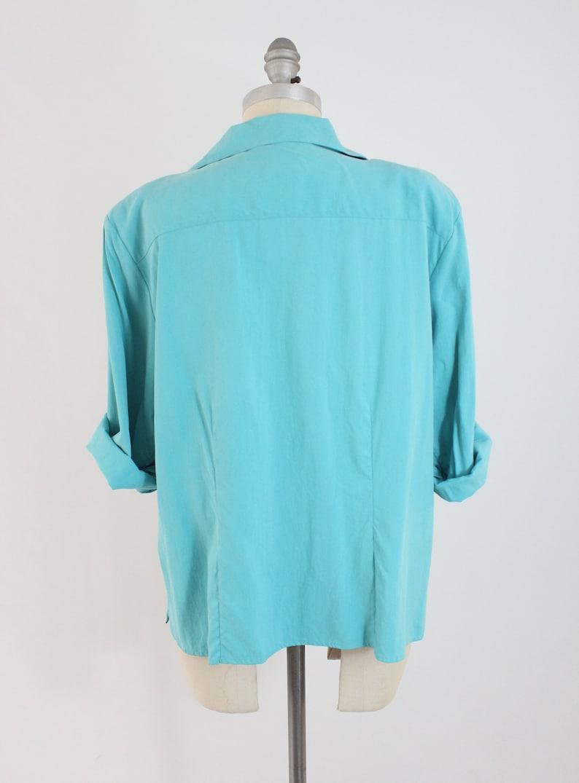 4f2206e3a2185 Vintage 90s Silk Blouse Shirt Button Up Top by Nexx