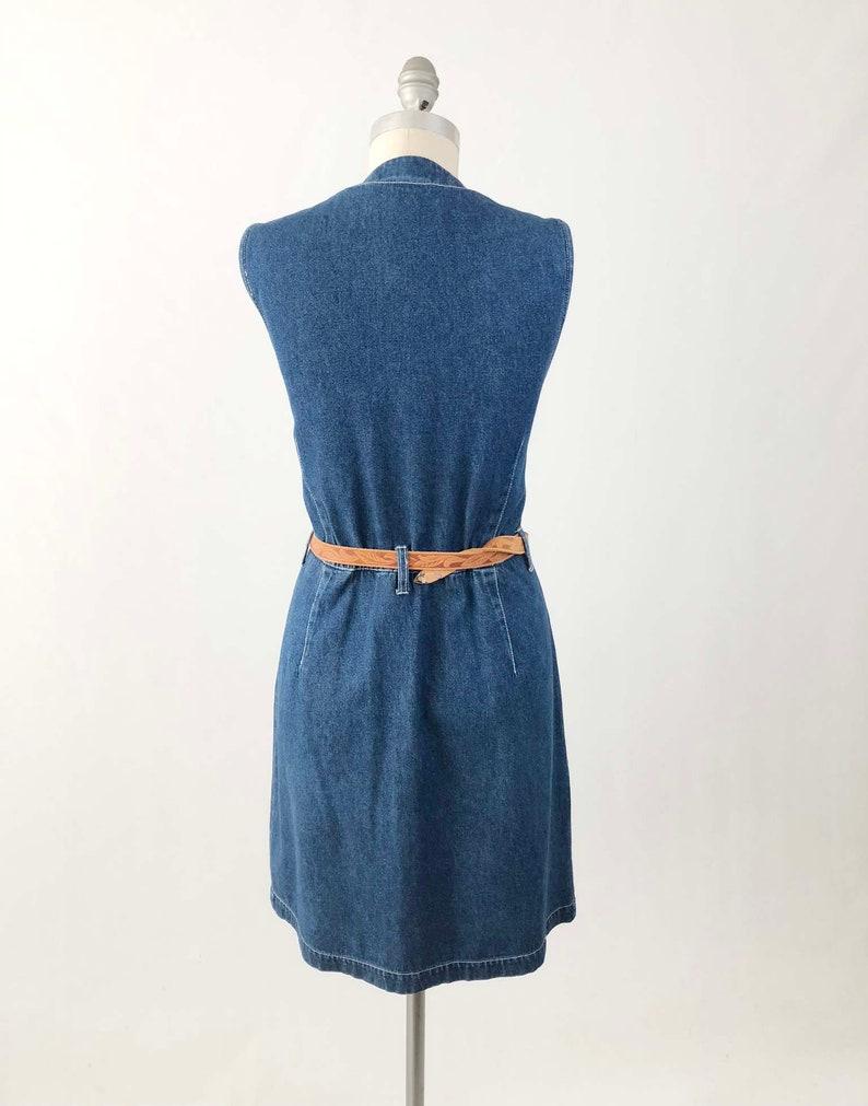 d643488e89 Vintage 90s Denim Jumper Dress Sleeveless Blue Jean Dress
